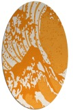 rug #650241   oval light-orange natural rug