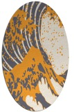 rug #650245 | oval white rug