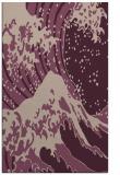 rug #650405 |  pink popular rug