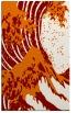 rug #650441 |  orange graphic rug
