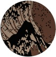 rug #650617 | round black natural rug