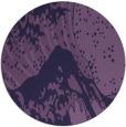 rug #650697 | round purple natural rug