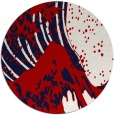 rug #650841 | round red rug