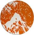 rug #650869 | round red-orange graphic rug