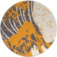 rug #650949 | round light-orange graphic rug