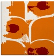 rug #651497 | square orange abstract rug