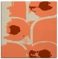 rug #651501 | square orange natural rug