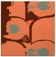 rug #651505 | square orange abstract rug