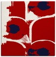 rug #651545 | square red abstract rug