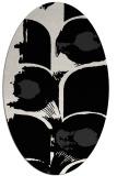rug #651661 | oval black natural rug