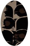 rug #651669 | oval black natural rug