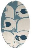 rug #651681 | oval white natural rug