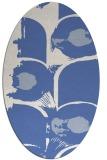 rug #651697 | oval blue abstract rug