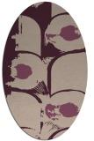 rug #651813 | oval pink natural rug