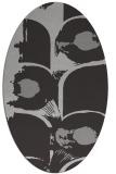 rug #651857 | oval orange popular rug