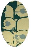 rug #651861   oval yellow abstract rug