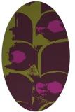 rug #651885 | oval purple abstract rug