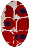 rug #651897 | oval red natural rug
