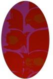 rug #651909 | oval pink abstract rug