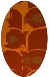 rug #651913   oval red-orange rug