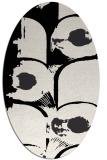 rug #651929   oval black rug