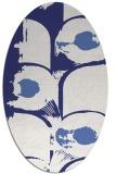 rug #651937   oval white abstract rug