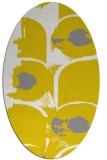rug #651957 | oval white abstract rug