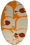 rug #651973 | oval orange natural rug