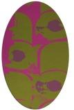 rug #651985 | oval pink abstract rug