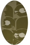 rug #651989 | oval light-green rug