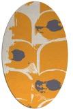 rug #652005 | oval white abstract rug