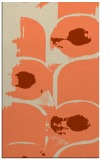 rug #652205 |  orange abstract rug