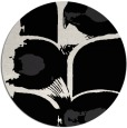 rug #652365 | round black abstract rug