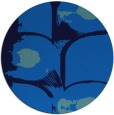 rug #652529 | round blue abstract rug