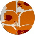 rug #652553 | round orange abstract rug