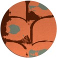 rug #652561 | round orange popular rug