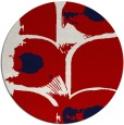rug #652601 | round red natural rug
