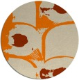 rug #652677 | round orange abstract rug
