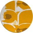 rug #652697 | round light-orange abstract rug