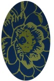 rug #655213   oval blue graphic rug