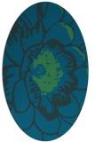 rug #655257 | oval blue rug