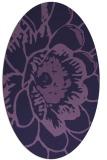 rug #655273   oval purple natural rug