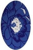rug #655281 | oval blue-violet rug