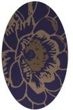rug #655285 | oval blue-violet graphic rug