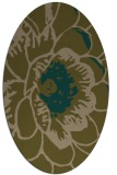 rug #655297   oval brown graphic rug