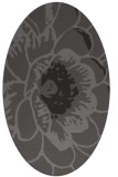 rug #655325 | oval brown graphic rug