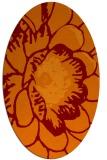 rug #655365 | oval orange popular rug