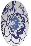 rug #655457 | oval blue popular rug