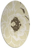 rug #655469 | oval yellow natural rug