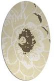 rug #655469   oval yellow graphic rug
